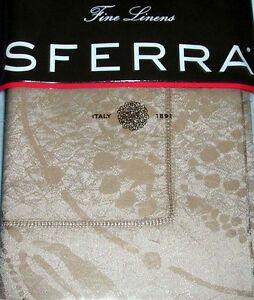 Sferra Ambra Standard Sham Sable Egyptian Cotton & Silk Sateen Jacquard New