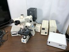 Zeiss AxioSkop Upright Fluorescence Microscope HBO 50 W + HBO 100 W Accessories