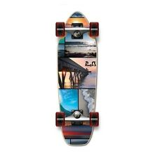 NEW SEASIDE Graphic Complete Longboard Mini Cruiser / Banana Cruiser skateboard