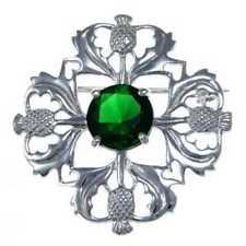 Joyería verde de plata de ley