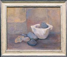 Isarkiesel Stilleben mit Steinen und Mörser, Gemälde 40 x 50 cm Barbara Schwarz