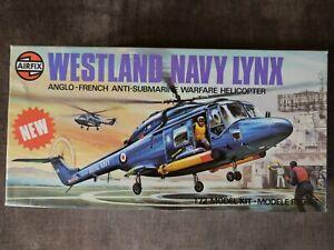 BNIB AIRFIX WESTLAND NAVY LYNX HELICOPTER 1/72 SCALE MODEL KIT NO.3024 SERIES 3