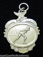 1929 The Ice Club Ice Skating Medallion Medal Charm Sports Award Dieges&Clust