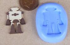 Robot Reutilizables Molde de Silicona Pastelería Joyas tarjeta Topper alimentos seguros 8