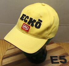 VERY NICE ECKO HAT YELLOW STRETCH FIT SIZE L/XL EMBROIDERED VERY GOOD COND E5