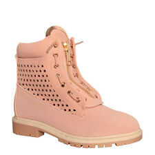 Womens Ladies Ankle Boot Timbs Style Boot Shoes Size