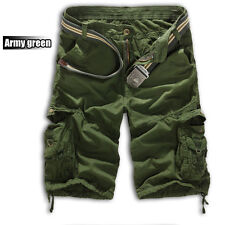 Mens Sports Camo Cargo Shorts Military Combat Work Pants Multi-Pocket USA STOCK