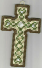 New listing Hearts Cross Wallhanging In Plastic Canvas