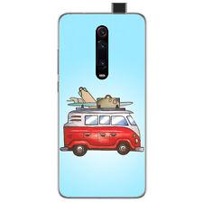 Funda Gel Tpu para Xiaomi Mi 9T / Mi 9T Pro diseño Furgoneta Dibujos