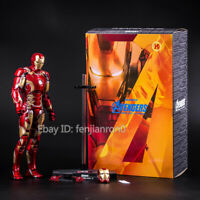 Avengers Age of Ultron Iron Man Mark XLII MK 43 LED HC TOY PVC Action Figure
