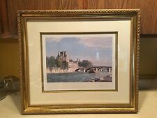 Framed John Stobart Print - Paris: The Louvre at Point Royal, Signed & Numbered