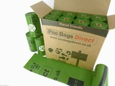 PooBagsDirect 240 Biodegradable Dog Poo Bags / 16 Rolls Dog Waste Bags