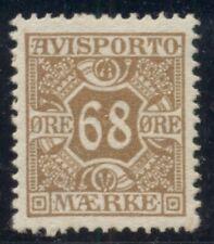 DENMARK #P7, 68ore brown, og, NH, VF Scott $525.00