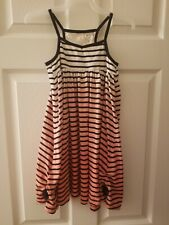 Girl's Summer Dress, Size 6 and 6x, Lot Of 2, purple striped and peach striped
