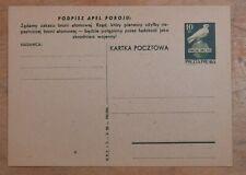 MayfairStamps Poland 10 Bird on Globe Mint Stationery Card wwr26493