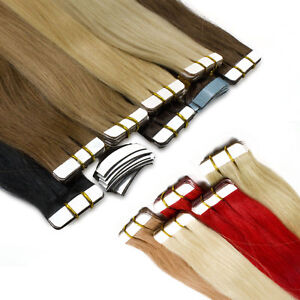 Tape on Remy Human Hair Extensions Straight Ombre Brazilian Hair 8A 16-26inch