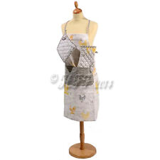NEW COUNTRY CHICKEN SET/ APRON ,OVEN GLOVE & MATCHING MAT, POULTRY/HEN GIFTS