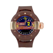 New Oversized Case Rubber Band Geneva Men's Sport Watch - 6 Color Choice