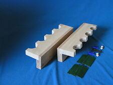 Pair of 4 gun wood closet gun rack - solid oak construction