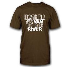 LIVING IN A VAN DOWN BY THE RIVER FUNNY MATT FOLEY SNL CHRIS FARLEY T-SHIRT TEE
