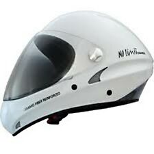 Charly No Limit Helmet, White - for Paragliding, Long Boarding & Speedboarding