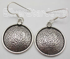 """Earrings 1.7"""" One Of A Kind 925 Sterling Silver Ancient Style Dangling New"""