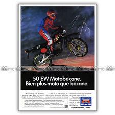 PUB MOTOBECANE 50 EW 50EW EW50 - Original Moped Advert / Publicité Cyclo de 1982