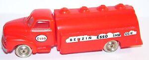 N°1 LEGO HO 1/87 CAMION TRUCK ROUGE BEDFORD TANKER ESSO 1955 REF 1250 BENZIN a