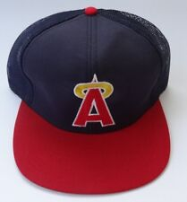 NWT Vtg California Angels M/L Mesh Snapback Trucker MLB Baseball Cap Hat Twins