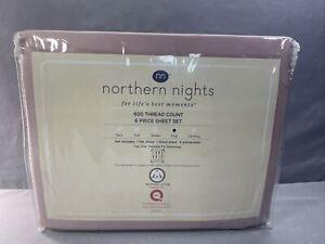 Northern Nights 600TC Egyptian Cotton 6 Piece Sheet Set King Antique Mauve