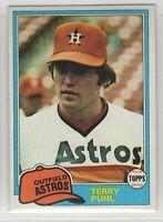 1981 Topps Baseball Houston Astros Team Set