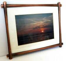 VERY LOVELY PICTURE OF A BEAUTIFUL SUNSET IN FINE COPPER METAL FRAME EXCELLENT