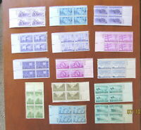 Mint NH LOT of STAMPS U.S. Numbered Plate Blocks 1942-1946 VERY FINE