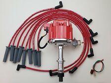 Pontiac 301 326 350 389 400 455 Hei Distributor Red 85mm Spark Plug Wires Usa Fits Pontiac