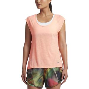 New Nike Women's Top Size M / Running /t-shirt/gym/fitness/orange/ DRI-FIT/light