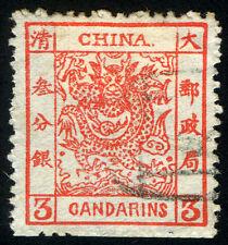 Imp China 1885 Large Dragon 3ca Inner Frame both top bars Broken Var. used Rare