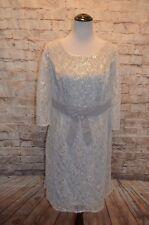 Modcloth Defined to Refine Lace Dress Silver NWOT 1X Lace & Mesh A-line $130
