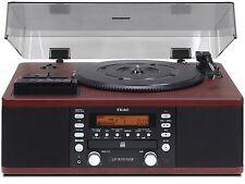 Teac lp-r550usb CD Recorder/Cassette, Plattenspieler USB-Out Nussbaum lpr550usb