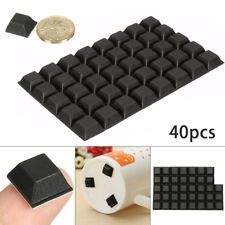 40pcs Self Adhesive Rubber Feet Stop Bumper Door Cabinet Furniture Pads  Black