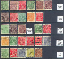 Australia 27 Different KGV HEADS Used COLLECTION, SG CV £30+