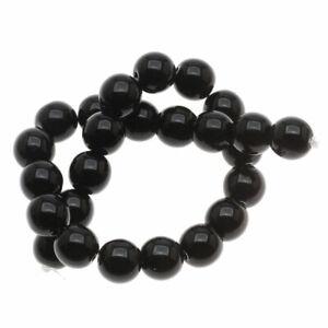 Czech Glass Druk Round 8mm Jet Black (25 Beads)