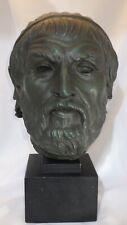 1960 Alva Museum Replica Bust of Sophocles Replica Reproduction Statue Art