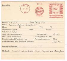 Germane 1932 AFS Leipzig Unikat für die große Sammlung Archivkarte