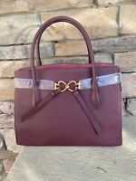 NWT Kate Spade New York Toujours Large Pebble Leather Satchel Bag ~ Cherrywood