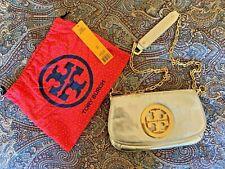 Tory Burch  Clutch Amanda Metallic Gold Leather Cross Body Bag