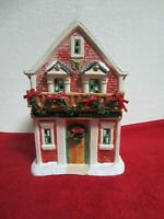 Vintage Mainstreet USA Christmas Valley Collectible Village Weekly Herald