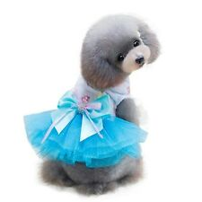 DOG DRESS TOP PUPPY TEACUP TINY 19CM CHIHUAHUA CLOTHES XS SMALL XXS BLUE tutu