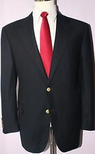 Brooks Brothers Navy Blue Wool Two Gold Button Wool Cashmere Blazer Size 42 S