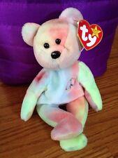 MWMT Ty Beanie Babies PEACE Tie-die Bear Retired Plush Animal