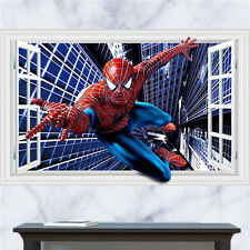 Cool 3D Spiderman Removable Wall Stickers Kids Room Vinyl Decal Art Mural Boys